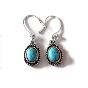 Bohemian Western Silver and Turquoise Earrings